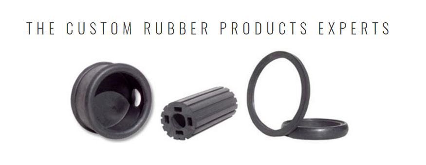 Examples of Qualiform's custom rubber grommets and other products.