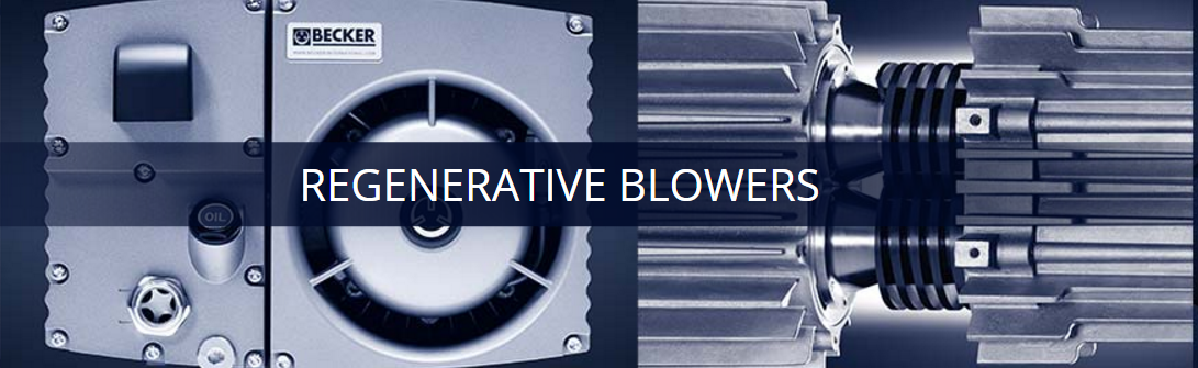 A picture of regenerative blowers with a title of the same name.