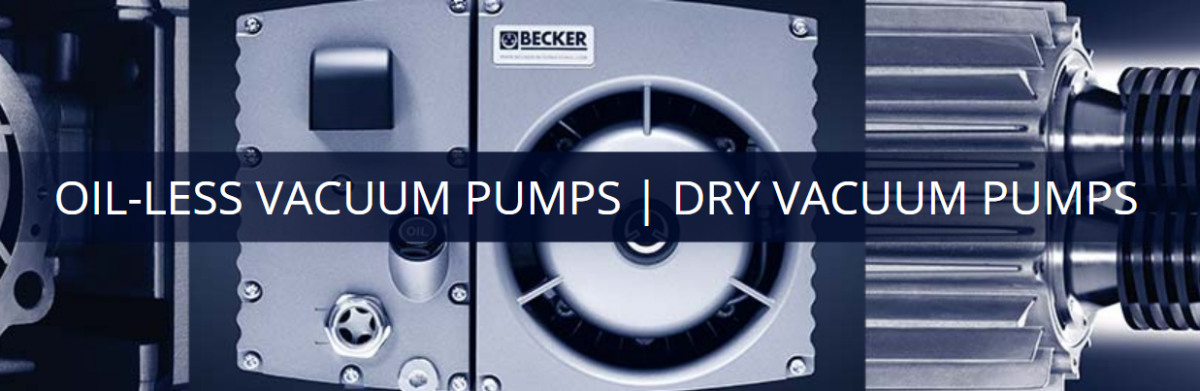 Dry vacuum pumps and oil-less vacuum pumps