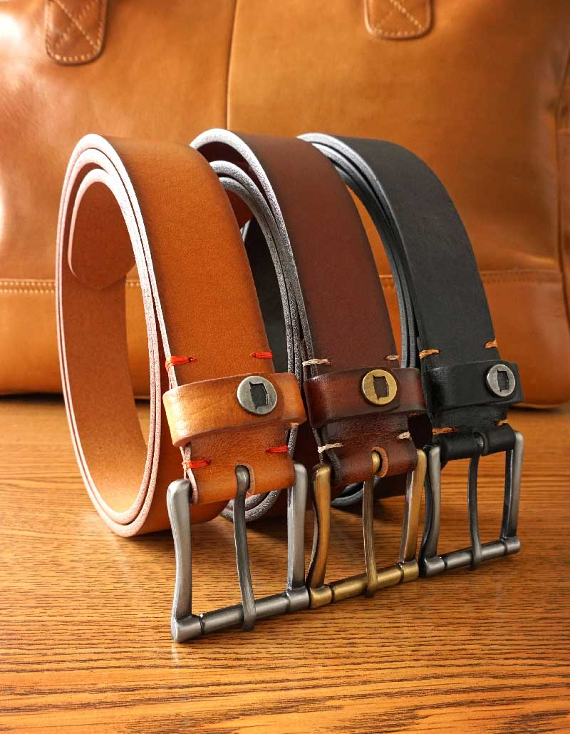 Men's real leather belts