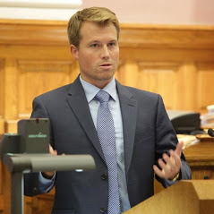 Maxwell Hiltner a Federal criminal defense lawyer in court