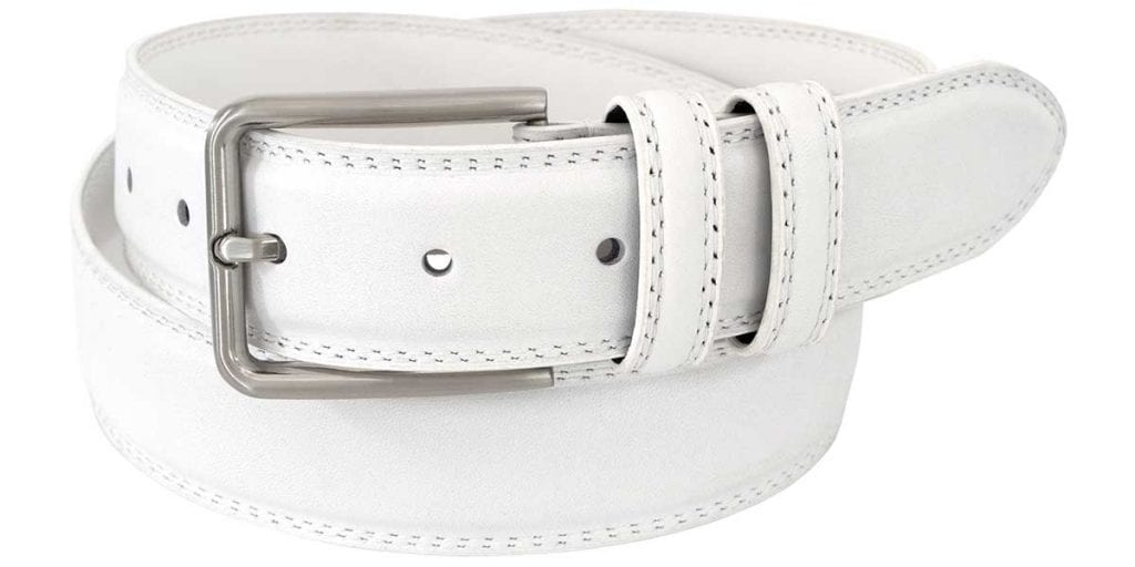 Status Leather Goods | Mens White Leather Belts