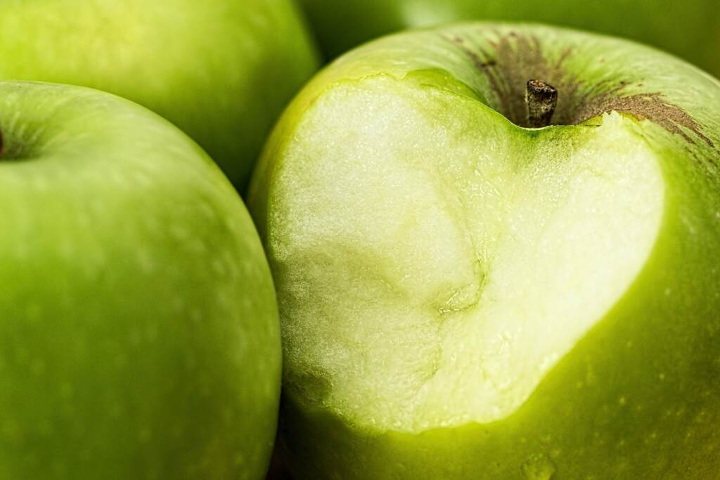 sensory design with green apple
