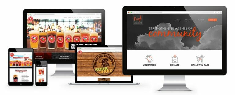 thirsty dog brewing website example