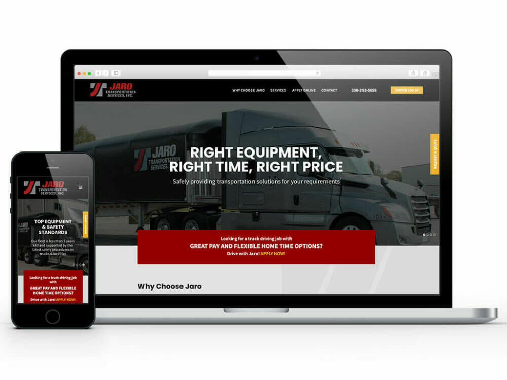 web-design-jaro-transportation-services