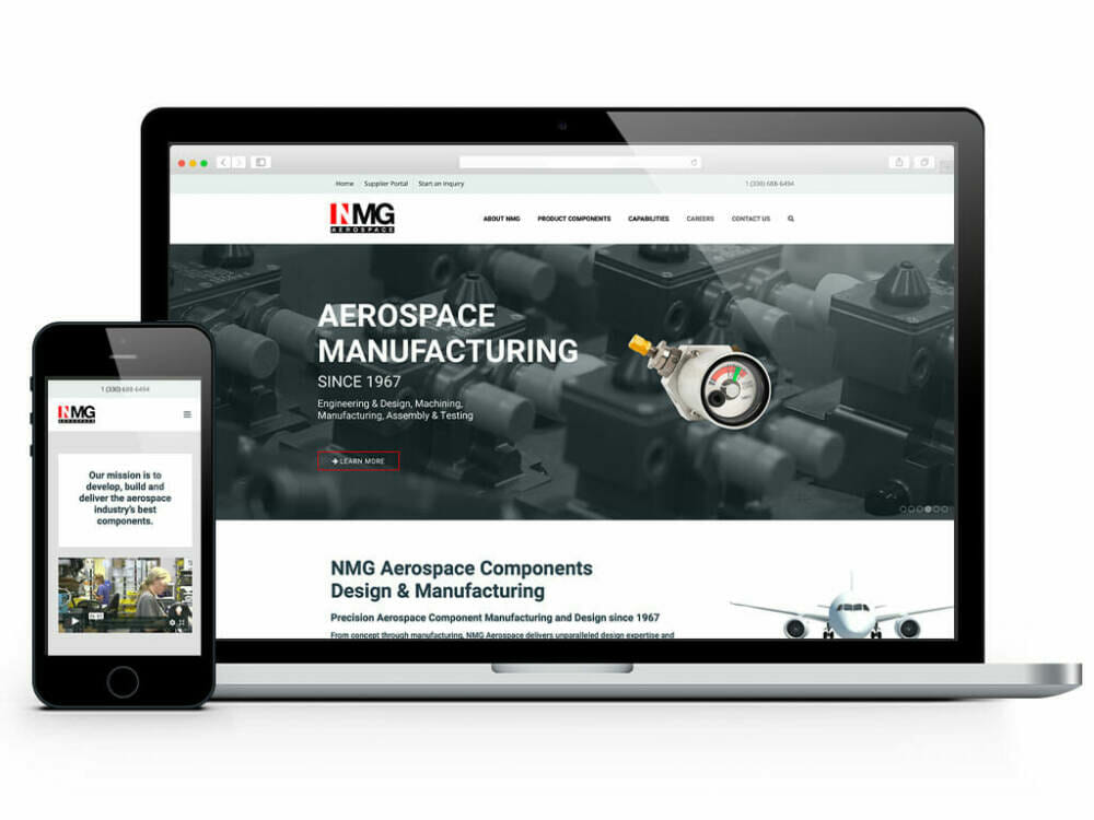 nmg custom website design